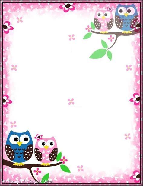 printable owl border paper 2016 best images about etiquetas y marcos on pinterest