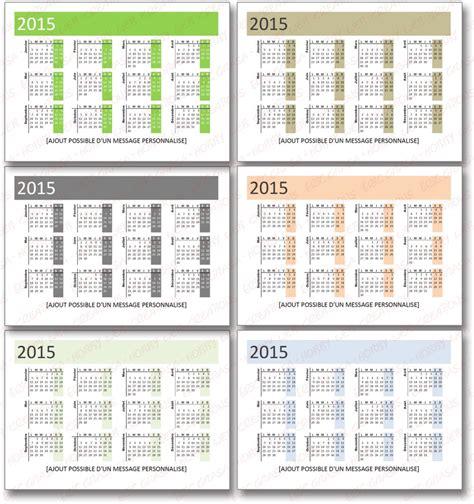 calendrier de poche 2015 pour vos clients