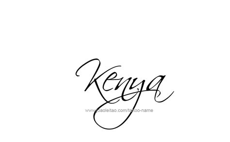 kenya tattoo designs kenya name designs