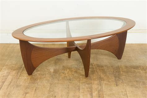Oval Coffee Table Plans Vintage Retro G Plan Teak And Glass Astro Oval Coffee Table Ebay