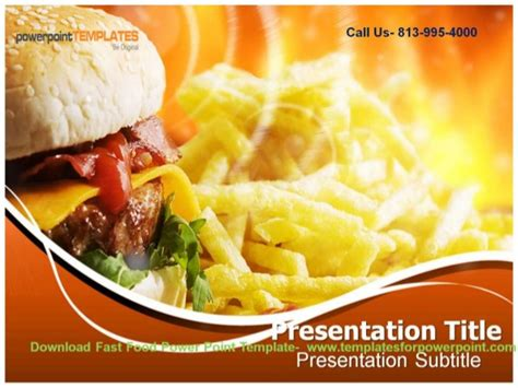 Online Downaload Fast Food Powerpoint Template Fast Food Ppt Slides