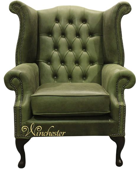 sage green leather sofa chesterfield queen anne high back wing chair selvaggio