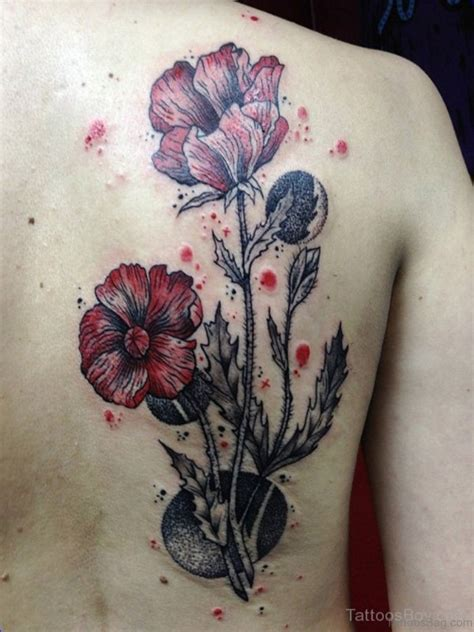 poppies tattoo 60 well formed poppy tattoos on back