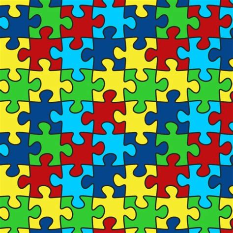 600 Square Feet autism awareness puzzle pattern