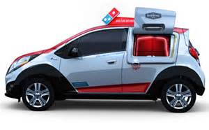 how for a new car to be delivered dominos built pizza delivery car with own oven
