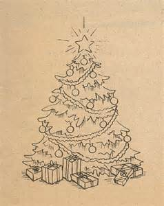 realistic christmas tree drawing designcorner