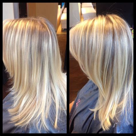 lowlights and highlights foil for gray hair malisa957 before after traditional foil highlights to