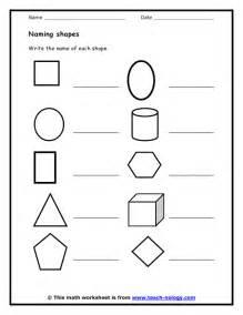recognizing shapes worksheets benderos printable math