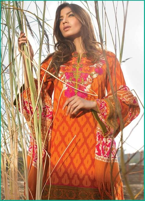 Safina Stripy amazing sana safina shawl dresses collection for winter