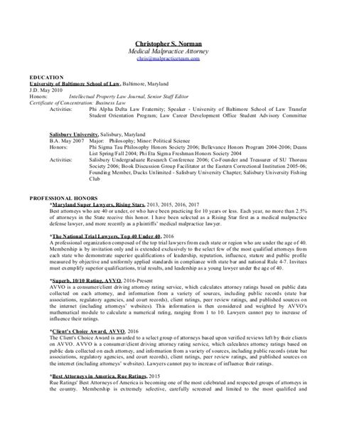 Malpractice Attorney Cover Letter Resume Sle Attorney Malpractice Related Post Resume Sle Attorney