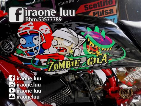 Stiker Rx King 2018 cutting sticker rx king plants and zombies by iraoneluu on