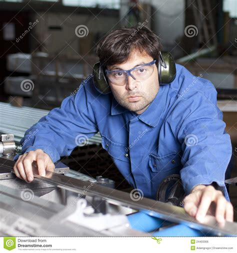 blue collar working blue collar working in fabric royalty free stock image image 24403306