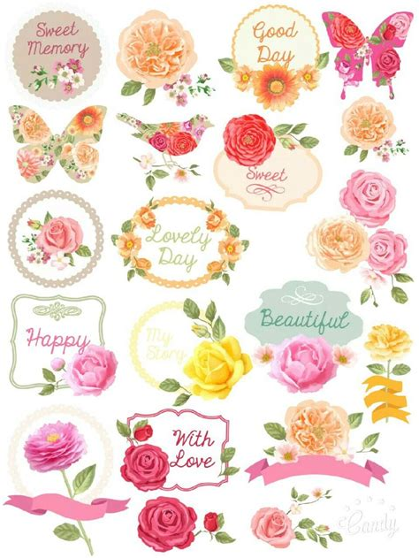 printable rose stickers printable flower stickers www pixshark com images