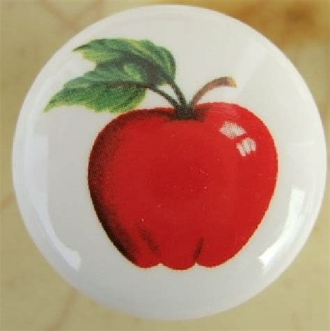 Apple Cabinet Knobs by Cabinet Knobs W Apple 5 Fruit Ebay