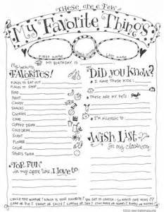 teacher favorite things questionnaire printable skip to my lou