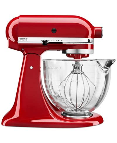 KitchenAid KSM105GBC 5 qt. Stand Mixer with Glass Bowl