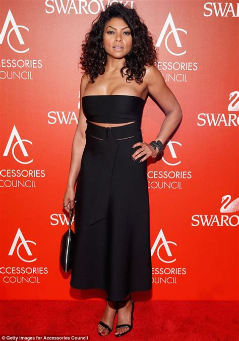 taraji p henson black dress cut out empire s taraji p henson stuns in her sexy cut out black