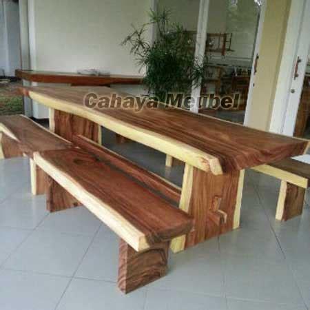 Meja Makan Kayu Trembesi meja makan blok mewah kayu trembesi cahaya mebel jepara