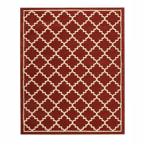 8 x 8 rug home decorators collection winslow picante 8 ft x 8 ft square area rug 492915 the home depot