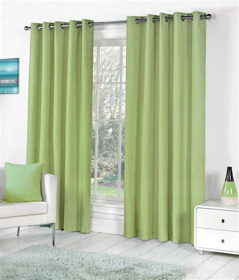 solid green curtains pindia set of 4 window eyelet curtains solid green buy