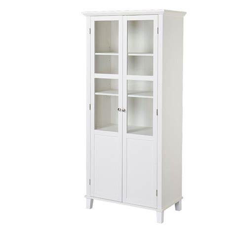 2 door painted mdf storage cabinet in white zh1209431