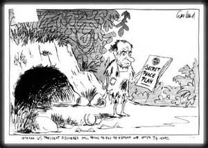 British cartoon commenting on us president nixon s vietnam policies