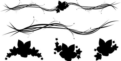 30 free swirl curly and floral vectors for designers