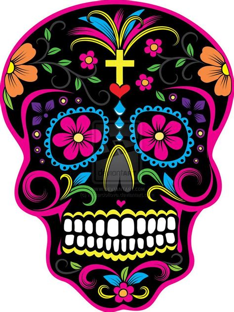 sugar skull candy skull day dia de los muertos skulls dia de los muertos skull 2 by