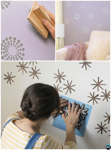 pattern wall painting techniques diy patterned wall painting ideas and techniques picture