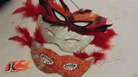 How To Make A Paper Masquerade Mask - diy how to make mask jk arts 119
