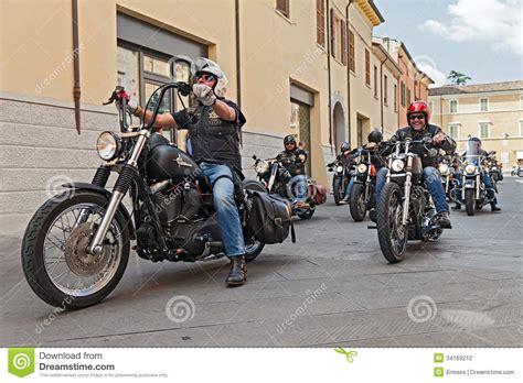 american biker a group of bikers riding harley davidson editorial