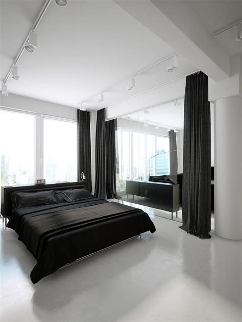 black  white contemporary interior design ideas