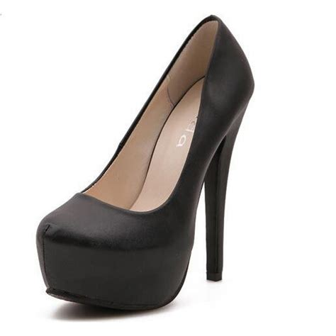 Pumps Highheel Brukat black platform high heel pumps