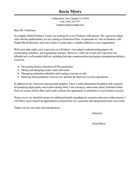 Media Researcher Cover Letter by Best Media Entertainment Cover Letter Exles Livecareer