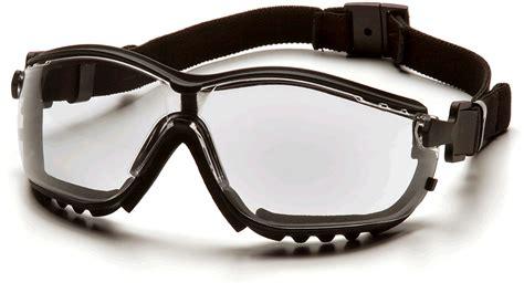 motorcycle glasses goggles clear anti fog lens black frame