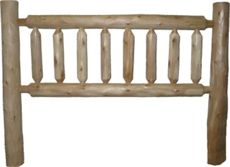 rustic log headboards cottage white cedar rustic log headboard
