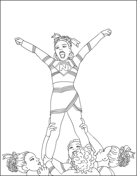 printable coloring pages cheerleaders cheerleading coloring pages