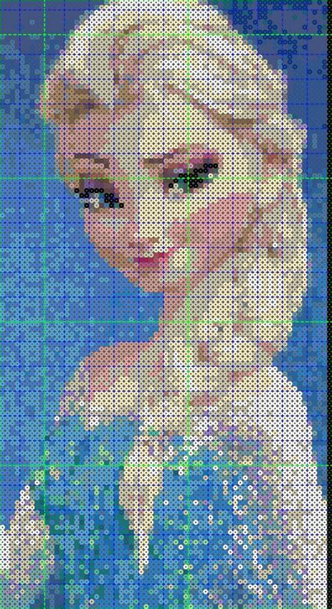 hama bead templates elsa from frozen hama perler template by