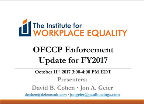 executive order 11246 section 202 hot topics so far in 2017 the institute for workplace