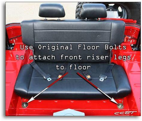 fj40 bench seat bench seat installation 65 to 78 fj40 and bj40