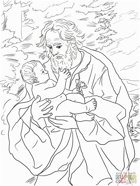 saint joseph coloring page az coloring pages