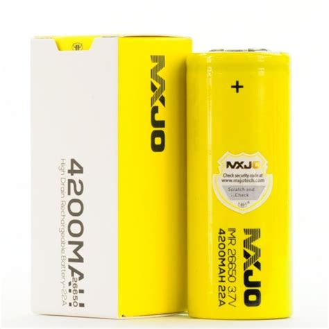 Mxjo 26650 4200mah Mxjo Imr 26650 4200mah Rechargeable High Drain Lithium Battery