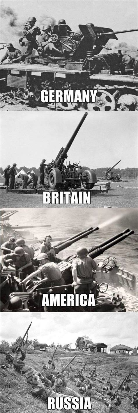 Russian Army Meme - anti aircraft units of ww2 war is hate why are we so