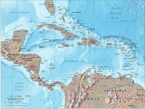 relief map america central america relief map relief map of central america