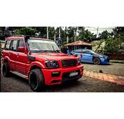 This Modified Mahindra Scorpio Is Red Hot Muscle
