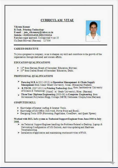 Sle Resume Of A In India Mis Executive Resume Format In Word 28 Images Exles Of