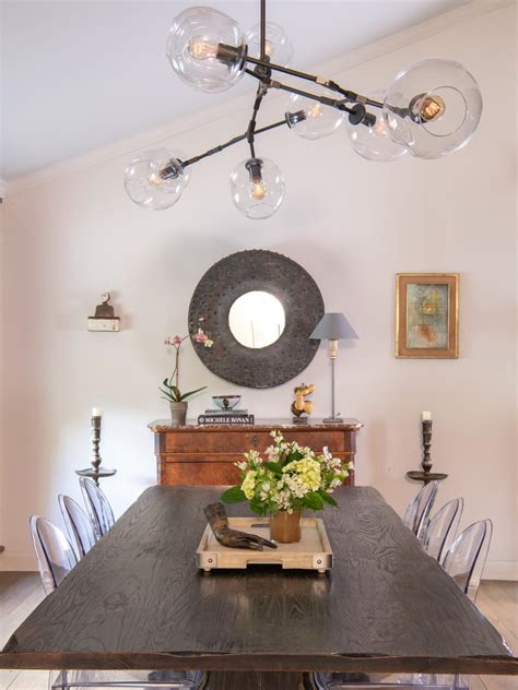eclectic dining room   mirror hgtv