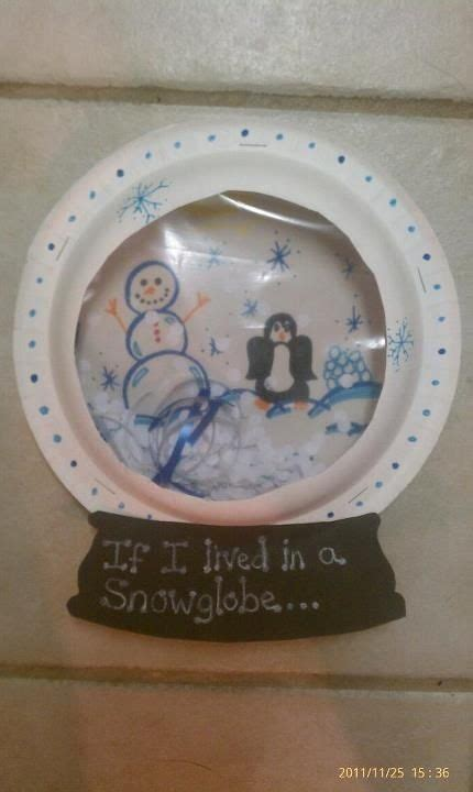 paper plate snow globe by winter crafts for