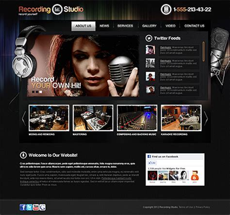 Music Website Templates Way To Share You Music World Tonytemplates Studio Website Template