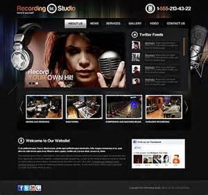 Recording Studio Html5 Web Template Tonytemplates Photo Studio Website Templates Free
